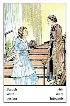 """Motiv der Zigeunerkarte """"Besuch"""""""