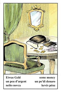 """Motiv der Zigeunerkarte """"Etwas Geld"""""""
