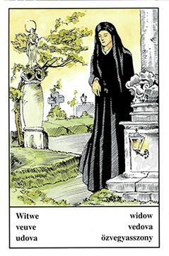 """Motiv der Zigeunerkarte """"Witwe"""""""